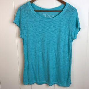 3/$27 Aeropostale Teal Wide Neck Tee Shirt